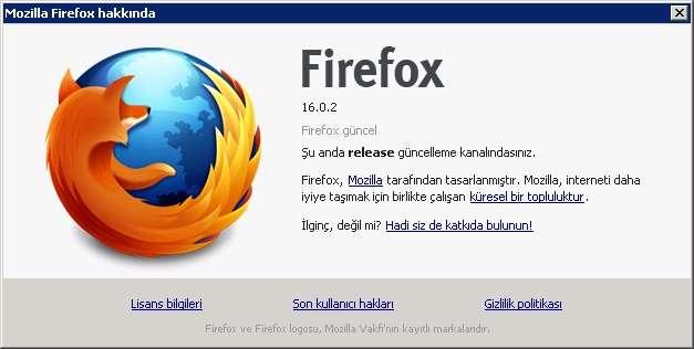 Mozilla Firefox v16.0.2 Final Türkçe (Win/Mac/Linux)